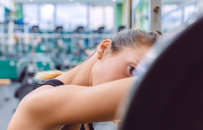 woman burned out from training