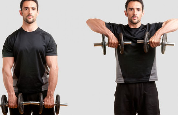 upright rows for capped delts