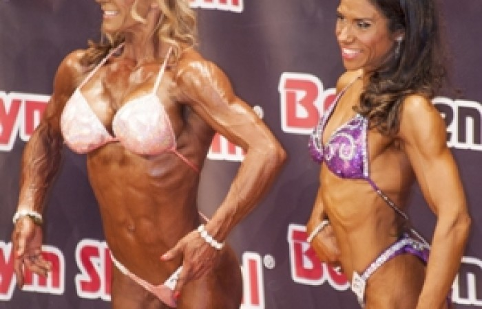 women in figure contest