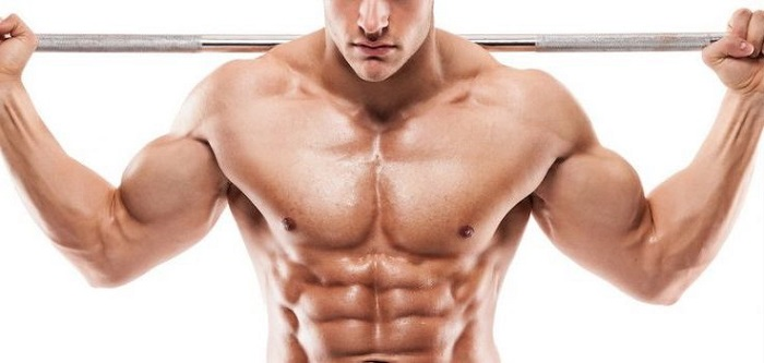 man building a better body with a barbell