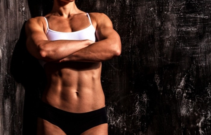 woman with tight abs