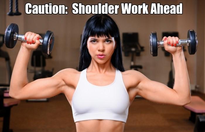 caution shoulder work ahead