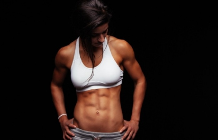 fit woman with ripped abs