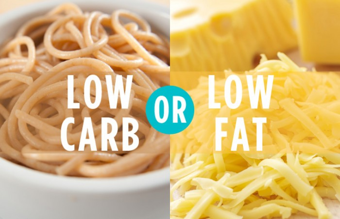 low carbs or low fat