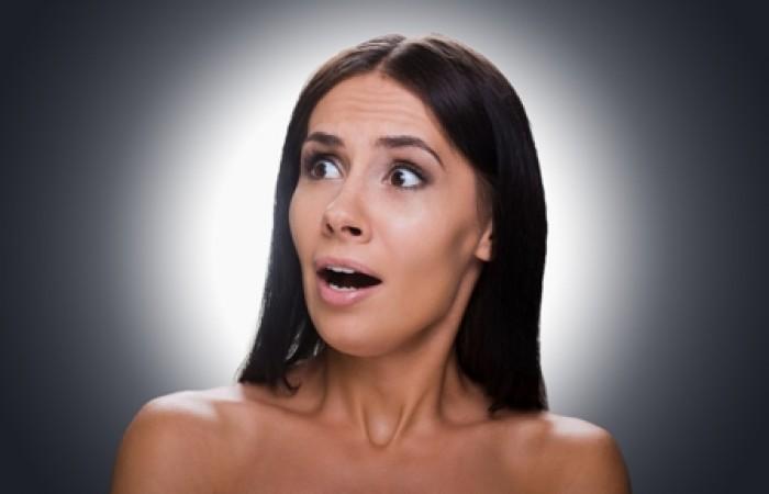 woman shocked at weight loss
