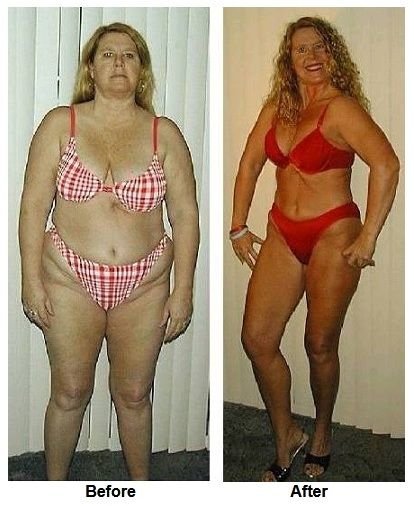 linda showing her weight loss