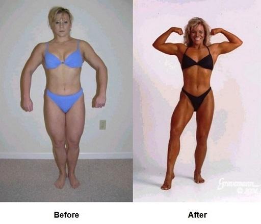 Diane bodybuilding pose