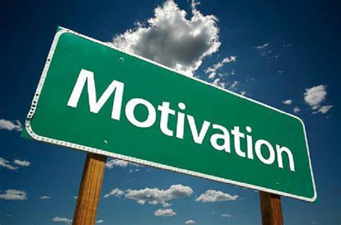 how to stay motivated street sign
